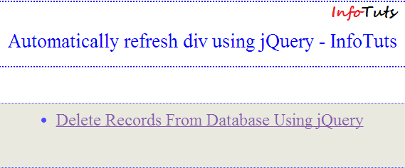Automatically load content and refresh div using jquery infotuts - Jquery reload div ...