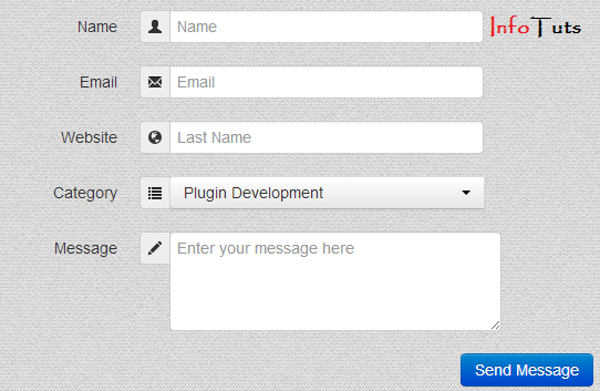 Easily Create Contact Form Using Twitter Bootstrap Infotuts
