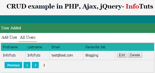 php create pdf from jquery table