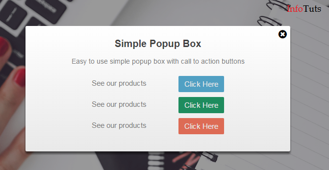 Simple Lightbox Popup using jQuery and Bootstrap - InfoTuts