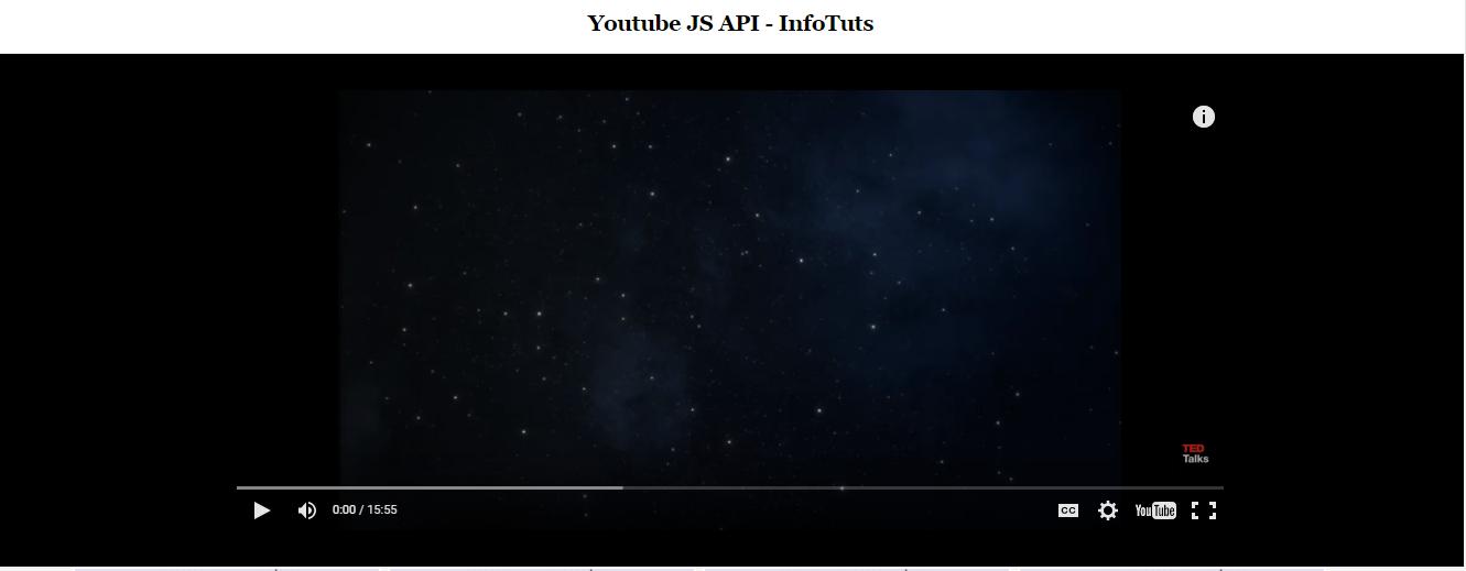 Youtube iframe js api